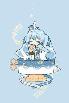 Hatsune Miku, Kaito, Kawaii Anime, My Best Friend, Chibi, Snow, Drawings, Artwork, Cute