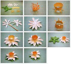 Бумажки: бахромой и весна 3D Бумажные цветы!