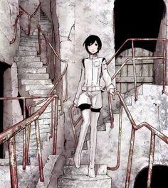 Izana Shinatose - Sidonia no Kishi Pretty Drawings, Cool Drawings, Manga Art, Anime Art, Knights Of Sidonia, Anime Military, Cool Sketches, Cartoon Art Styles, Anime Scenery