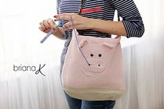 Ravelry: Pig Project Bag or Purse for Crafters pattern by Briana K Crochet