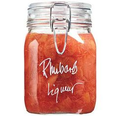 Toast the sweetness of spring with this homemade Rhubarb Liqueur. | Cookinglight.com