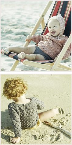 Misha and Puff Popcorn Sweater, Children's Hand Knits
