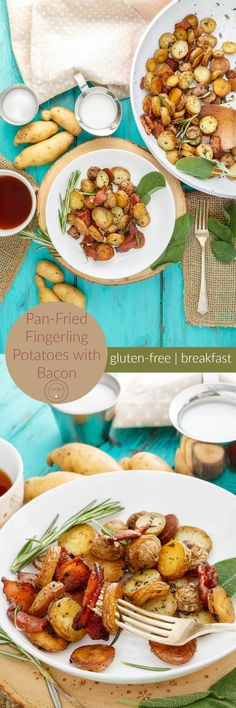 Pan-Fried Fingerling Potatoes with Bacon