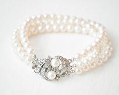 Freshwater Pearl Cuff Bracelet, Bridal Cuff Bracelet, Wedding Bracelet, Bridal Bracelet, Wedding Jewellery