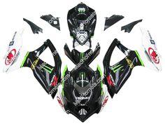 Mad Hornets - Fairings Suzuki GSXR 600 750 Black Monster Energy Racing  (2008-2009), $599.99 (http://www.madhornets.com/fairing-bodywork-for-suzuki-gsxr-600-750-black-monster-energy-racing-2008-2009/)