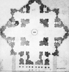 Michelangelo, Plan of St. Peter's, 1546