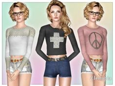Cropped Stud Top- http://www.thesimsresource.com/downloads/details/category/sims3-clothing-female/title/cropped-studded-top-vintage/id/1156783/