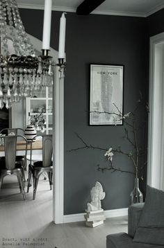 Magnolia in a bottle Closet Bedroom, Living Room Bedroom, Gray Interior, Interior Design, E Room, Wooden Flooring, House Design, Oversized Mirror, New York