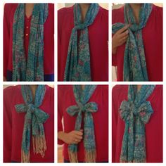 Put a Bow On It: Scarf Edition--easy way to tie your scarf in a new, funky way!