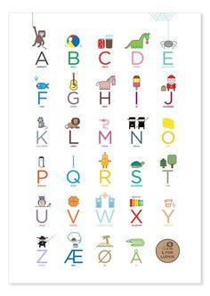 Alphabet poster (in Norwegian) - by katinkarettfrem