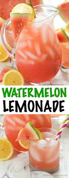 Watermelon Lemonade is a cool and refreshing drink perfect on the deck on a hot summer's day! This recipe is so easy and delicious, you'll definitely want to prepare if for your next BBQ feast or just to relax and share with friends on your patio (and it can easily be spiked with vodka)! With just the perfect amount of sweetness, a touch of tart lemon and refreshing watermelon flavor, this is sure to become your favorite summer beverage!