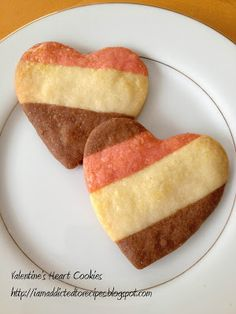 Valentine's Heart Cookies   Addicted to Recipes
