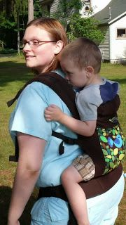 Back Carry with Boba Tweet
