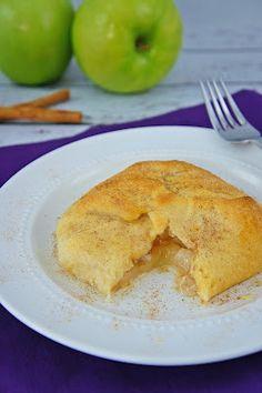 Mini apple pie crescent rolls