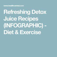 Refreshing Detox Juice Recipes (INFOGRAPHIC) - Diet & Exercise