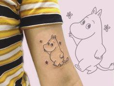 Girly Tattoos, Cool Tattoos, Tatoos, Piercing Tattoo, Piercings, Moomin Tattoo, Tattoo Designs, Tattoo Ideas, Cute Tats