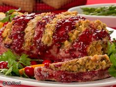Double-Glazed Stuffed Pork Roast: What You'll Need:      1 (6-ounce) package pork stuffing mix     1/4 cup dried cranberries     2 pounds boneless pork loin     Salt to taste     Black pepper to taste     campaignIcon Recipes     1 (14-ounce) can whole berry cranberry sauce     1/4 cup orange marmalade     1 tablespoon chopped fresh parsley