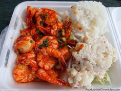Geste Shrimp Truck 10:30 AM - 5:30 PM -- get there early though. They close when they run out.