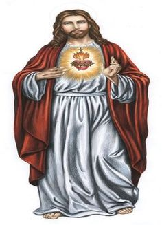 Sacred Heart of Jesus Christ Religious Images, Religious Icons, Religious Art, Mary And Jesus, Jesus Is Lord, Jesus E Maria, Pictures Of Jesus Christ, Christ The King, Heart Of Jesus