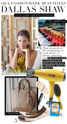 Dallas Shaw Shares Her Fashion Week Must-Haves | www.theglitterguide.com
