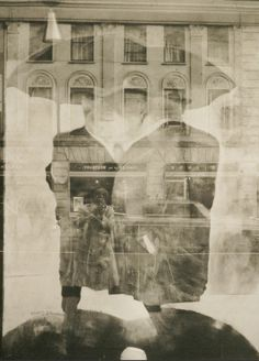 Self-portrait through window, 1956 -  Rondal Partridge