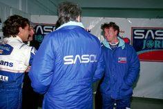 1994  Ayrton Senna e Eddie Irvine Testes de pré-temporada Estoril, Portugal