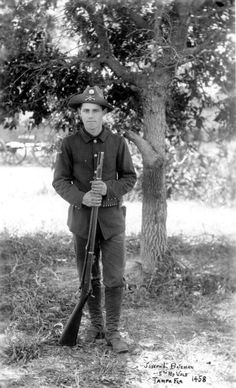 Joseph L. Bateman, member of the 5th Maryland Volunteers for the Spanish-American war - Tampa, Florida
