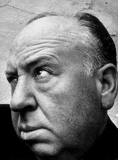 Sir Alfred Hitchcock, strikin' a pose.