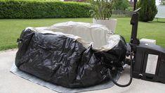 Gonflage du spa gonflable Intex 28454 Bulles + Jets 4 places