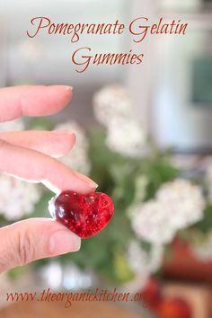 Pomegranate Gelatin Gummies   The Organic Kitchen Blog and Tutorials
