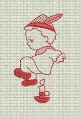 ZDBJJ174-12 Nursery Rhymes Redwork-Singl