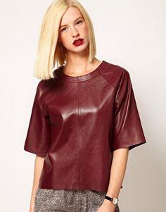 ASOS_T-shirt in pelle