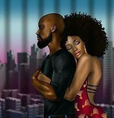 One if these days black couple art, black love couples, art love couple, Black Couple Art, Art Love Couple, Black Love Couples, Sexy Black Art, Black Girl Art, Art Girl, African American Art, African Art, Couple Swag