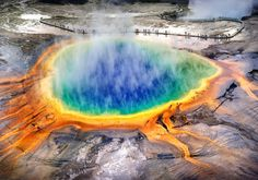 Wyoming: Grand Prismatic Spring