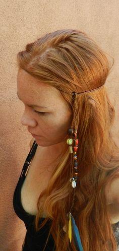 Soul Traveler Headband/Macrame/Stones/Boho by SpiritYSol on Etsy, LOVE THIS!!!!!
