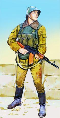 Soviet motor rifle troop in Afghanistan
