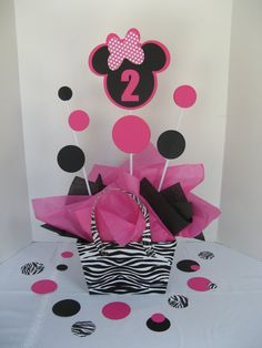 MINNIE mouse table decoration LARGE double-sided via Etsy