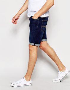 Image 4 - ASOS - Short en jean foncé délavé coupe skinny
