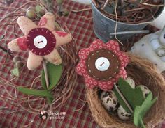 dulces pilukas: Florecitas country muy primaverales