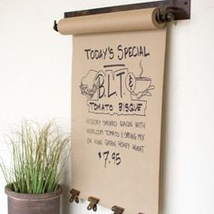 Farmhouse Hanging Note Roll...with this price, maybe I won't have to DIY after all...