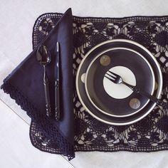ANICHINI | Senele Placemats - Hand Crotcheted Linen Placemats