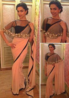 Deepika Padukone wearing Payal Singhal for her movie Bajirao Mastani Promotions