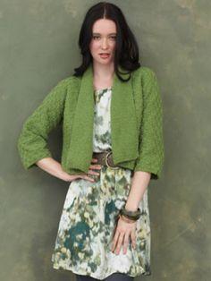 Kimono Sleeve Cardigan   Yarn   Free Knitting Patterns   Crochet Patterns   Yarnspirations