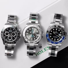 """20.2k Likes, 199 Comments - Daily Watch ⌚️ (@dailywatch) on Instagram: """"Left, Middle or Right? Which would you wear today? Rolex Daytona, Yachtmaster or GMT-Master II.…"""""""