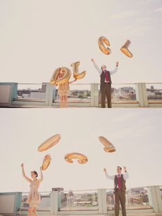 Gold alphabet balloons are such a fun wedding prop.. maybe YO or HI