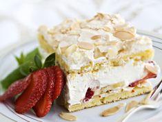 Iki-ihanat britakakun tyyliin tehdyt leivokset hurmaavat jokaisen herkkusuun. Suussa sulava täyte tehdään mansikoista ja kermavaahdosta. Finnish Recipes, Just Eat It, Almond Cakes, Piece Of Cakes, Something Sweet, Desert Recipes, Let Them Eat Cake, Yummy Cakes, Cake Cookies