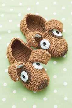 Phentex® Slipper™ Puppy Slippers - free crochet pattern