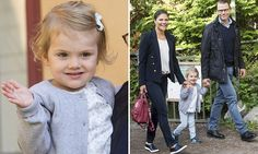 Swedish Princess Estelle is all smiles on first day of kindergarden