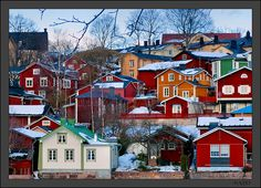Porvoo, Finland. Got to know this little beautiful city quite well in the years as my Mother in law used to live here for a decade.
