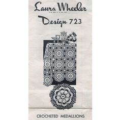Crocheted Flower Medallion Pattern Cloths Bedspreads Laura Wheeler 723